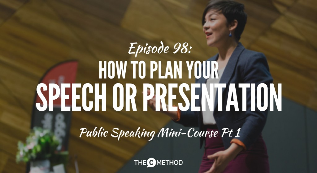 christina canters the c method public speaking plan presentation or speech podcast