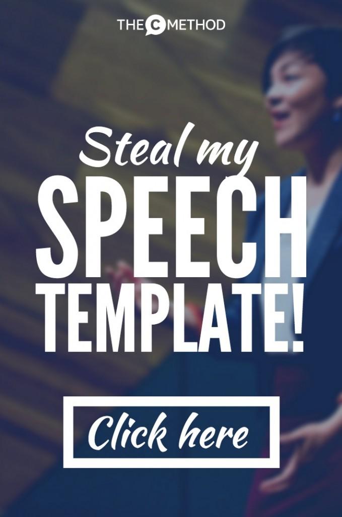 christina canters speech presentation writing template