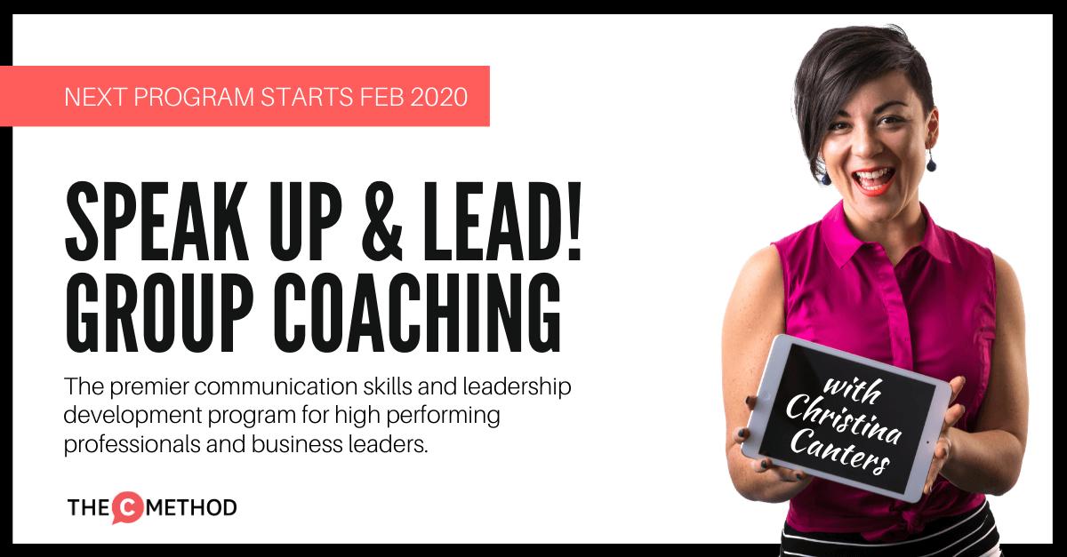 confidence group coaching communication skills leadership program christina canters