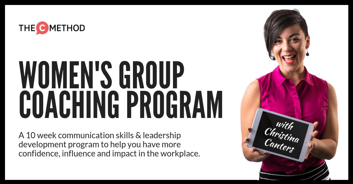 group coaching program christina canters the c method communication skills confidence training leadership public speaking