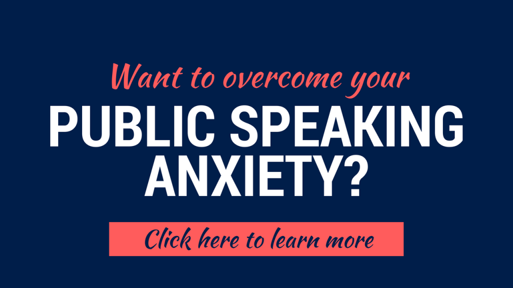 overcome public speaking anxiety course