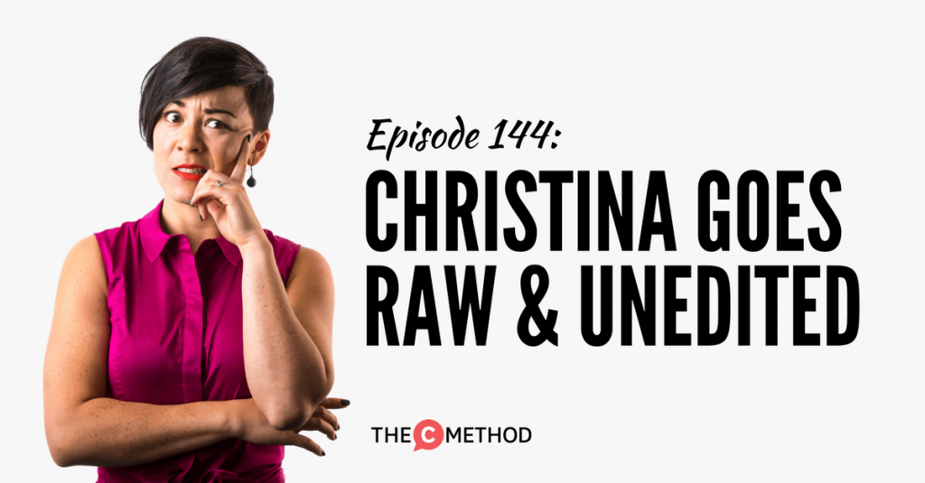 the c method christina canters podcast confidence comfort zone
