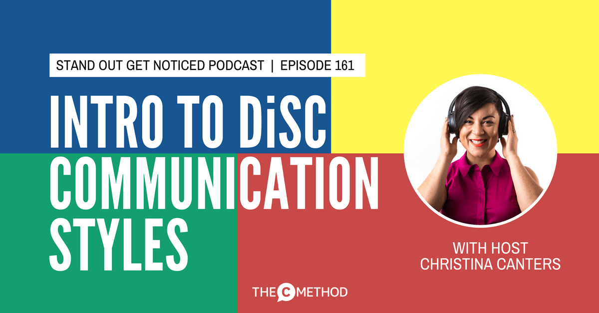 DiSC personality profile assessment communication styles Christina Canters The C Method