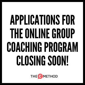 Online Group Coaching Program applications closing soon!
