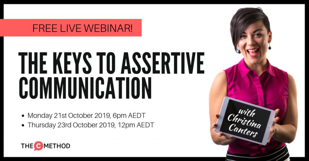 assertive communication public speaking christina canters the c method webinar
