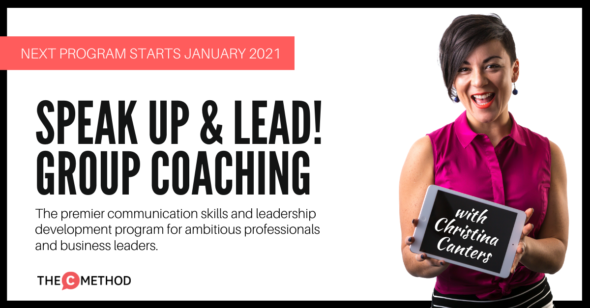 the c method group coaching program communication skills confidence leadership training